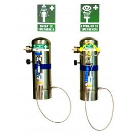 Station douche lave yeux portable 24 Litres